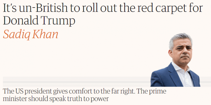 Guardian: It's un-British to roll out the red carpet for Donald Trump